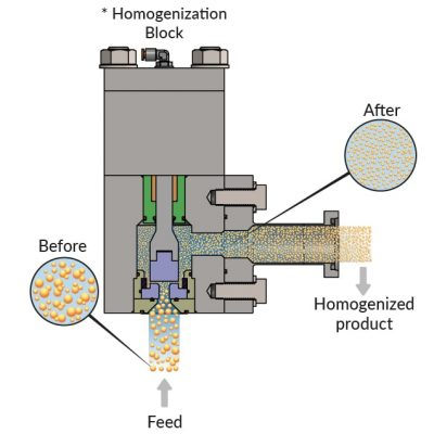 Homogenization valve, homogenization prenciple
